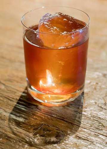 Red vermouth on the rocks