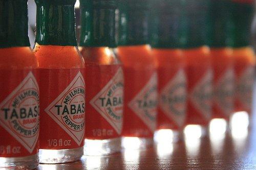 Bottles of Tabasco