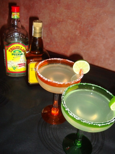 Tequila, triple sec, and two cocktails