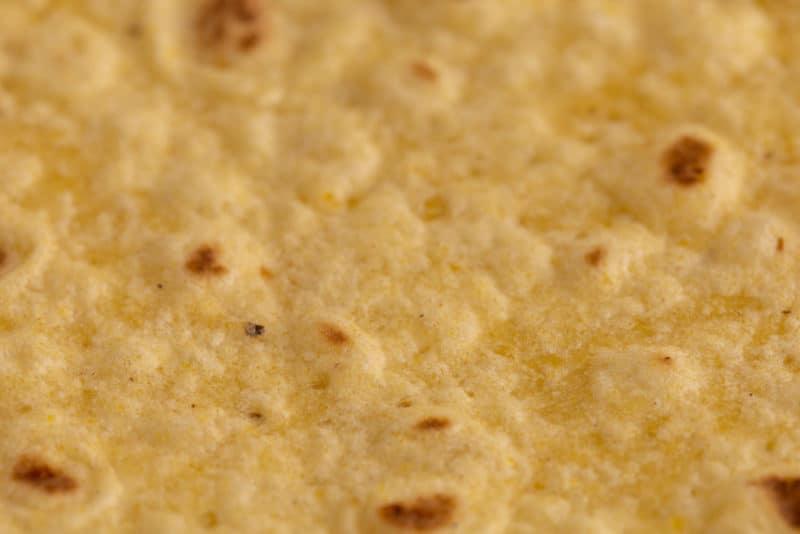 Tortilla closeup