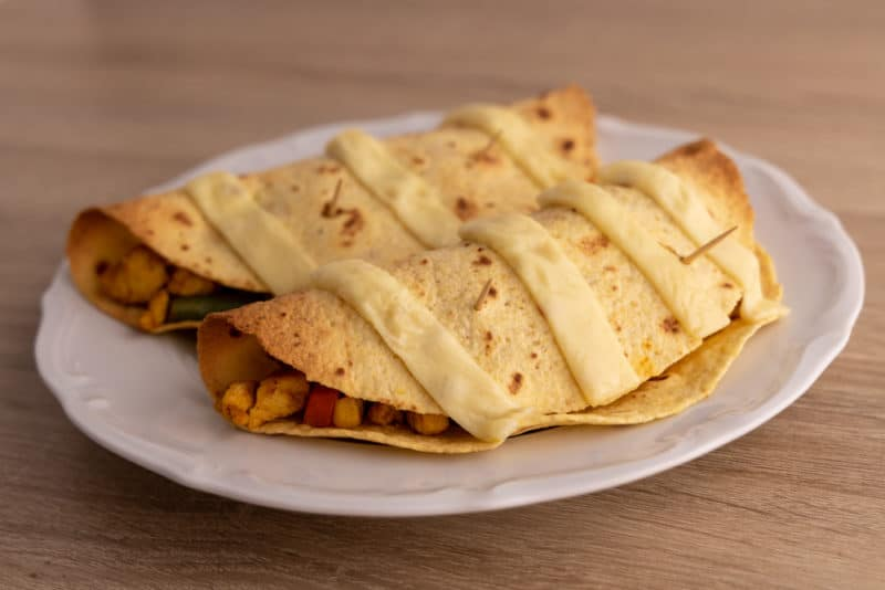 Two prepped tortillas