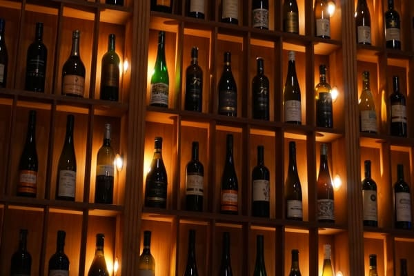 Bottles of various wines