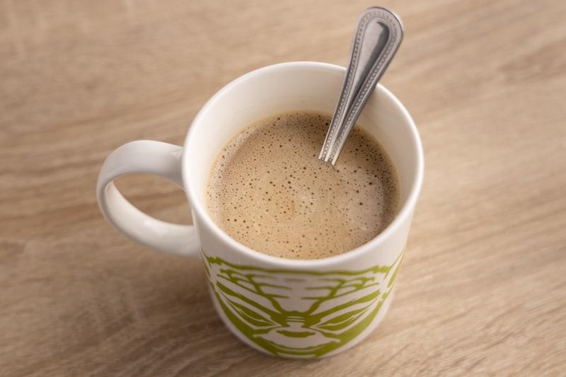 Whitened coffee