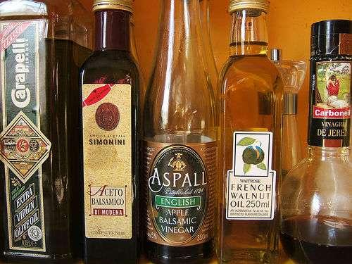 Few bottles of vinegar